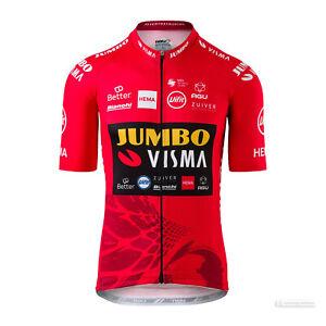 JUMBO-VISMA Team Cycling Jersey by AGU : VUELTA ESPANA LEADER RED