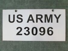 Vintage US Army License Plate # 23096 Military Police Car US Forces A-Team