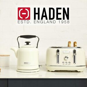 Haden Highclere Cream Kettle and 4 Slice Toaster Set no box