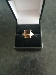 9ct Gold Smokey Quartz Ring REDUCED IN PRICE