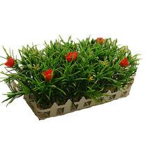 21cm Plastic Artificial Fence Lawn Turf Plants Daffodils Grass Home Garden Decor