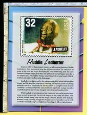 Leadbelly Hudie Letbetter Usps Blues Legend Jumbo 5x7 Postcard; post card; Ex/Nm