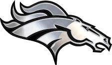 """Nfl Denver Broncos 4"""" x 2"""" Metal Chrome Auto Emblem New"""
