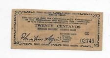 Philippines Emergency Currency Mindanao 20 Centavos - # 02745