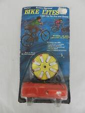 VINTAGE BICYCLE LIGHTS- 1970'S BIKE LITES- NOS ON CARD- SCHWINN STING RAY- COOL