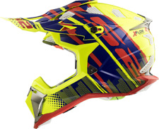 LS2 MX470 Subverter Bomber Motocross Enduro Off Road Helmet - Yellow/Blue/Red