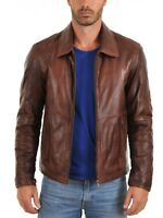 Noora Men's Motorcycle Leather Jacket Lambskin Biker Highyway Jacket Slim BS-167