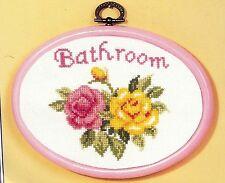 Vervaco  2012-44.23  Cadre  de  porte  salle de bains  Point de Croix  Compté