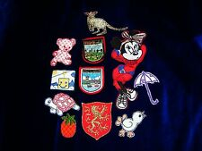 Lotto 11 Patches Toppe VINTAGE - Minnie, London e altri