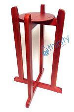 Cherry Red Water Crock Floor Stand Vase Base Dispenser H2O Aqua Jug Faucet Valve