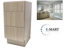 "18"" European Style 3 Drawer Bathroom Vanity Birch Wood Pattern in Plywood"