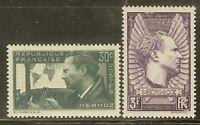 "Francia Stamp Francobollo Yvert e Tellier N 337/338 "" Jean Mermoz "" Nuovo Xx"