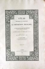 Atlas Révolution Française Empire 1833 Historique et Statistique Arnault Robert