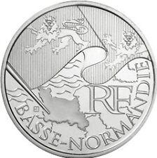 10 euros régions (argent)  Basse Normandie 2010