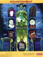 2003 McDonalds MIP Haunted Mansion Complete Set - Lot of 6