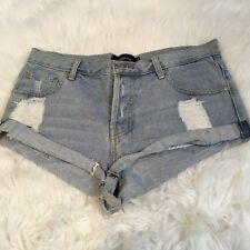 MINKPINK Women's Denim Shorts Size S Distressed Short
