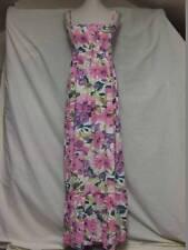 B-SOUL PRETTY COTTON FLORAL PRINT MAXI DRESS ADJ STRAPS LADIES M HOLIDAY SUMMER