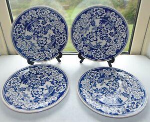 Masons Blue Batik 4 x Dinner plates 27cm Celebrating 200 Years of Masons 1996
