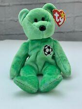 TY Beanie Babies Collection Retired Kicks Soccer Bear August 16,1998 Errors