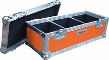 "7"" Single 300 Swan Flight Case Vinyl Record Box (Orange Rigid PVC)"