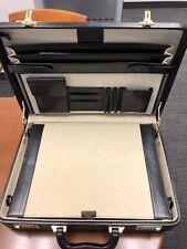 Black Exeter LTD Leather Briefcase w/Locks