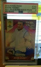2014 Panini Prizm World Cup BLUE RED WAVE Wayne Rooney PSA 9 Manchester United