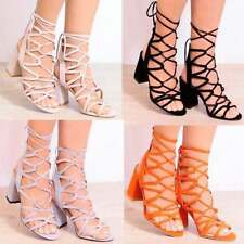 Block Party Patternless Faux Suede Upper Heels for Women