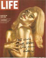 Shirley Eaton James Bond Goldfinger signed 10 x 8 inch autographed photo AK1414