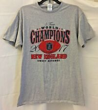 New England Patriots Mens 5 Time NFL World Champions T Shirt2017 Gray Size M
