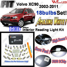 18 Bulbs Super White LED Interior Light Kit Package For Volvo XC90 2002-2011