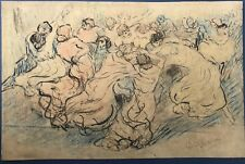 Adèle STEINER (1887-1981) Dessin Original Danse Femmes Période Steinlen Pologne