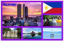 FILIPINAS - RECUERDO ORIGINAL Imán de NEVERA - MONUMENTOS/Ciudades - NUEVO /