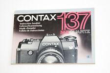 Contax 137 MA Quartz Bedienungsanleitung Gebrauchsanweisung Instructions   007