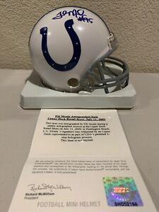 Fili Moala Signed Indianapolis Colts Mini Helmet Upper Deck