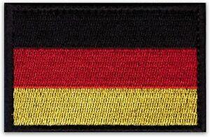 Deutschland Patch Aufnäher Country Badge mit Klett hochwertig