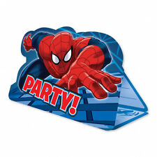 8 x Spiderman Party Invitations Invites Spider-man Party Supplies FREE P&P