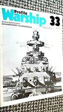 PROFILE WARSHIP #33: GERMAN BATTLECRUISER SCHARNHORST AND GNEISENAU (1973)