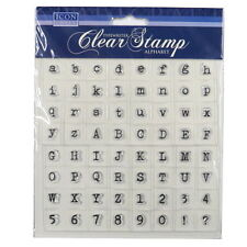 Icon Craft, Typewriter Clear Stamps - Alphabet
