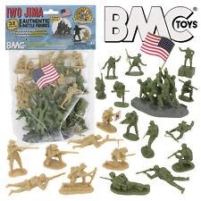 BMC WW2 IWO JIMA Plastic Army Men 32 American Japanese Soldier Figures 1:32 54MM