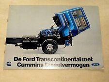 Prospectus Camion FORD TRANSCONTINENTAL CUMMINS brochure truck LKW prospekt
