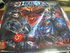 HEROES OF THE STORM 2017 CALENDAR, 16 MONTHS, 12 PICTURES NEW SHRINK WRAPPED