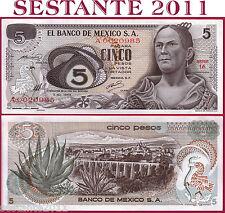 MEXICO MESSICO - 5 PESOS 3.12. 1969 Serie 1A  Prefix A Low number P 62a  FDS/UNC