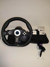 Pelican Playstation 2 PS2 Cobra TT Racing Wheel Controller Pedal tested