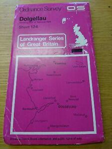 Landranger Map Dolgellau Wales Sheet 124 1974 Ordnance Survey