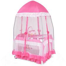 Rosa portatil Cuna corralito bebes Bolsa de transporte Baby Playpen Crib Cradle