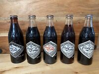 Collection 5 Vintage Coca-Cola 75th Anniversary FULL 10 Oz. Bottles Chattanooga,
