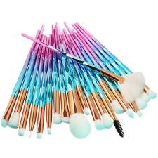 20x Mermaid Makeup Brushes Set Diamond Color Foundation Eyeshadow Cosmetic Brush