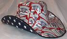 BUDWEISER COWBOY HAT Beer Box Anheuser Busch Carton Americana Patriotic