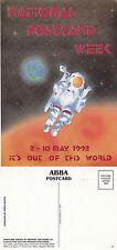 1992 NATIONAL POSTCARD WEEK SPACE ADVERTISING UNUSED COLOUR POSTCARD