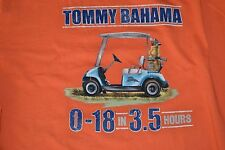 "Tommy Bahama ""0-18 In 3.5 Hours"" T-Shirt Men's Size: Small (S) Color: Orange NWT"